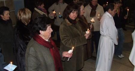 Fiesta de las candelas el 2 de febrero procesion
